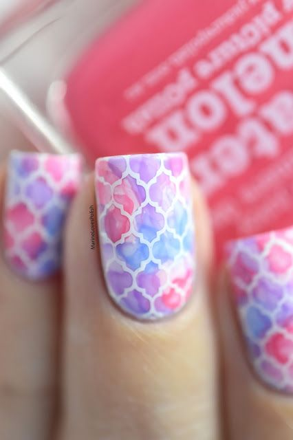 Marine Loves Polish: Nailstorming - Fav'Stamping [WATERCOLOR NAIL ART VIDEO TUTORIAL]