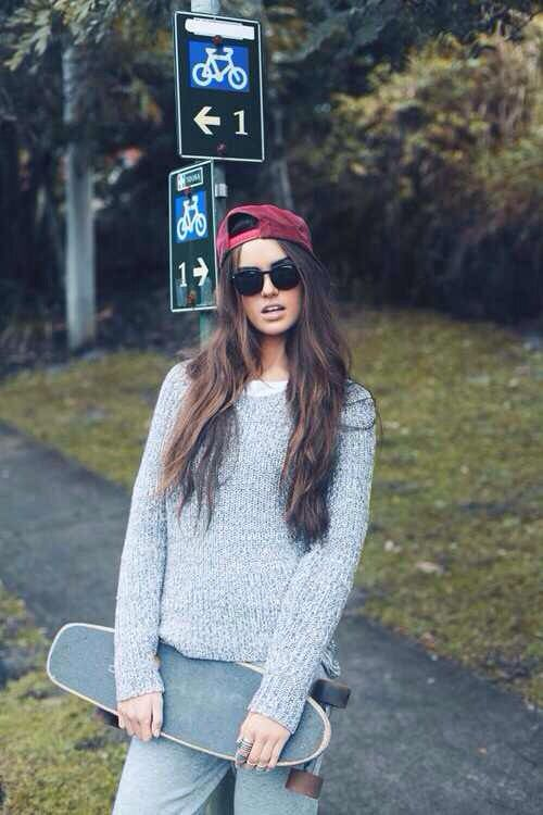 Skater Girl Style: Skateboarding Girl Outfits, Fashion, Skater Outfits ...
