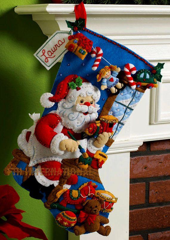 Bucilla In The Workshop  18 Felt Christmas Stocking kit
