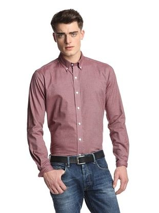 77% OFF Bespoken Men's Classic Shirt (Burgundy Twill)
