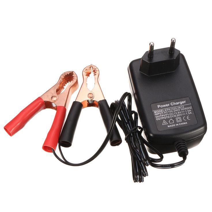 6V / 12V 1.5Amp Smart Moto Ebike Coche Batería Cargador para ácido de plomo Batería