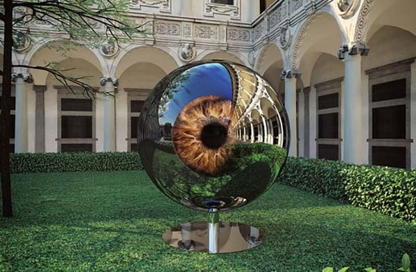 Really cool sculpture, see it at Design Folio - New Zealand's leading design magazine: Design Inspiration, Design Magazines, Speech Tchoban, Art Sculpture, Human Eyes, Architects Eyes, Amazing Sculpture, Art Installations, Stainless Steel
