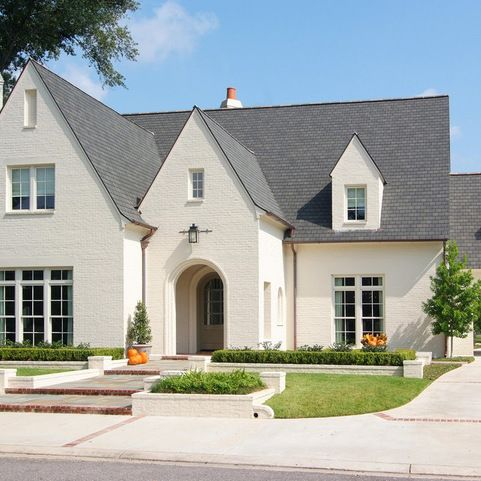 BM Sailcolth Exterior...Traditional Painted Brick Exterior Design Ideas, Pictures, Remodel and Decor