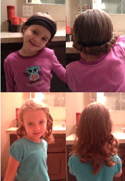 No heat curl for little girls.
