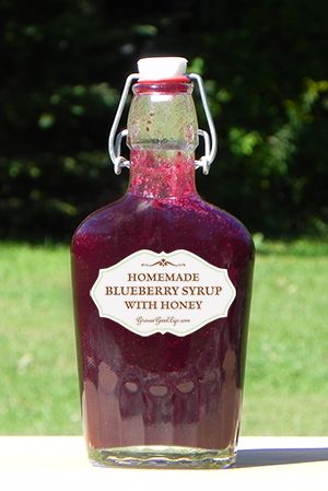 Blueberry Syrup with Honey | Grow a Good Life How to make homemade blueberry syrup with honey! I've got some blueberries froze to do just this.