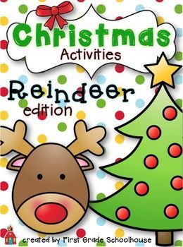 Christmas Activities Reindeer Edition FREEBIE with craft
