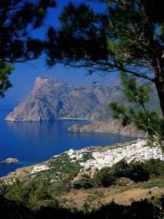 Village Mesochorie, Karpathos Island, Dodecanese, Greece.