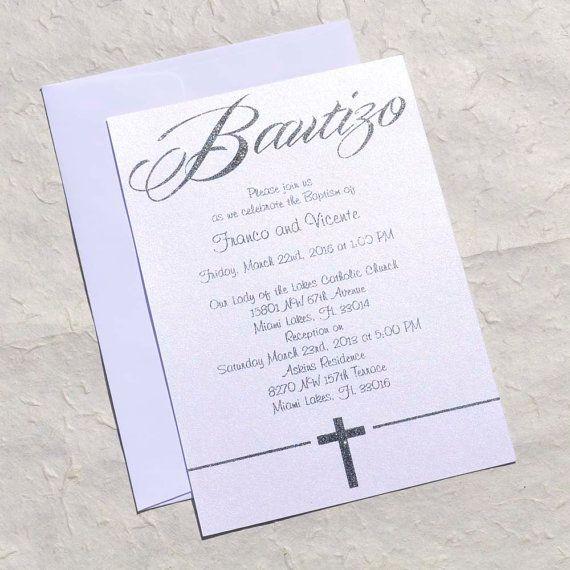 Tarjetas de bautismo bautizo invitación impresas en papel fino