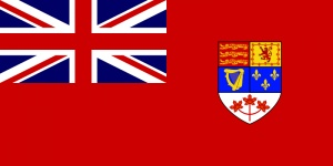 Old Canadian Flag.National Flag Day was Feb.15.