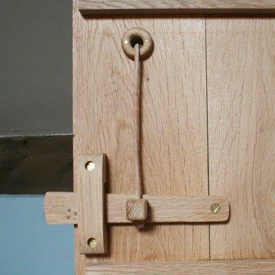 Solid Oak Toggle Latch Set