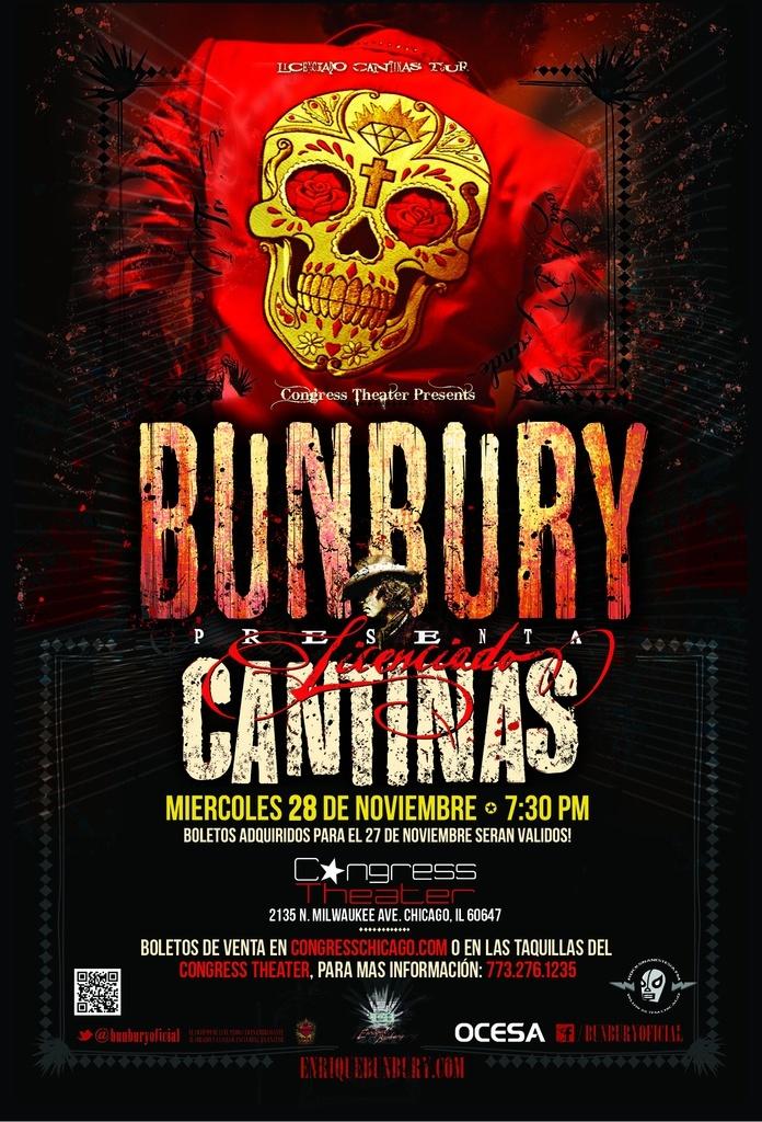 November 28 - Enrique Bunbury