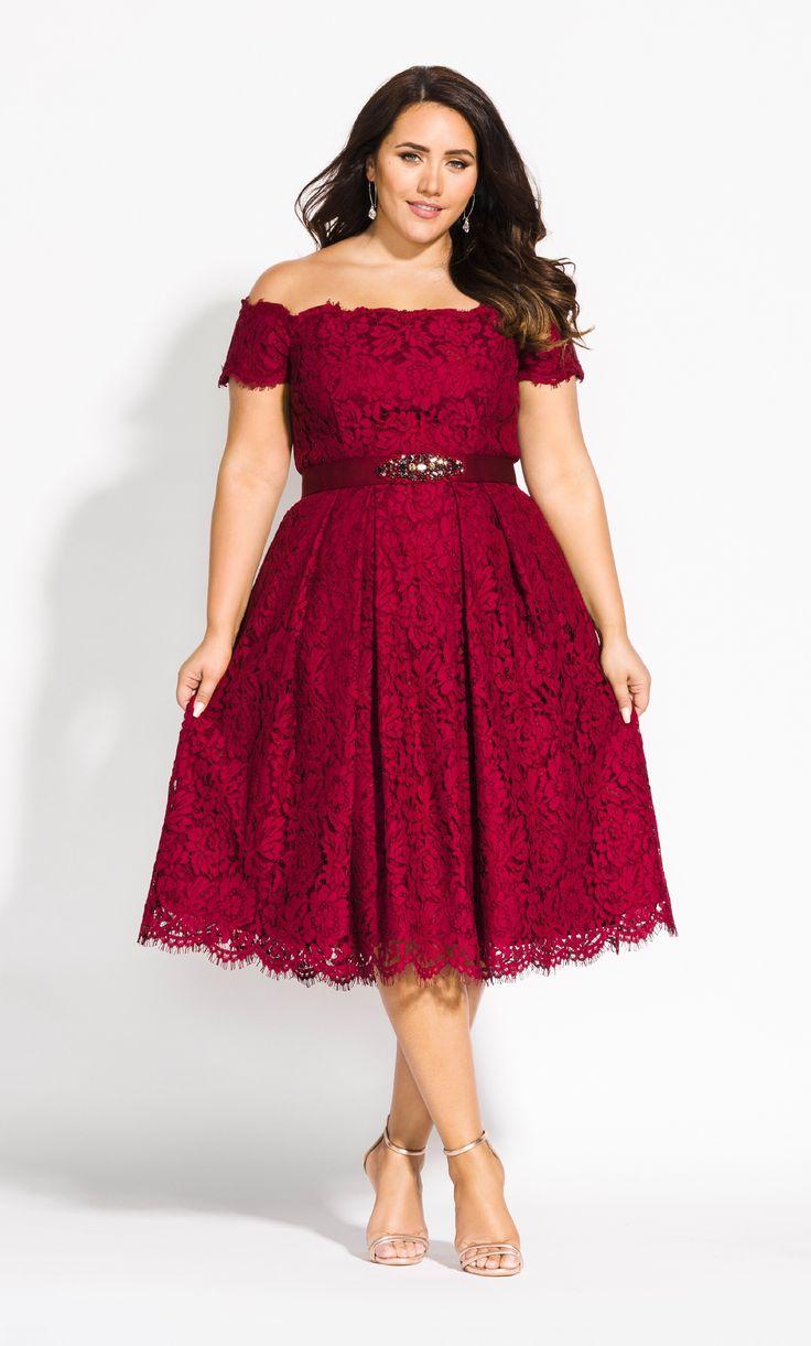 Lace Dreams Dress - ruby 2