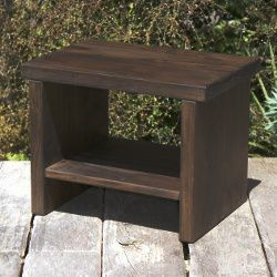 Classic Bedside Table with Java Stain  #futonz