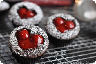 Cherry Cordial Cupcakes (uses cherry pie filling, but I'm going to make these with fresh cherries)