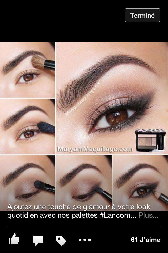 Maquillage Yeux Bruns