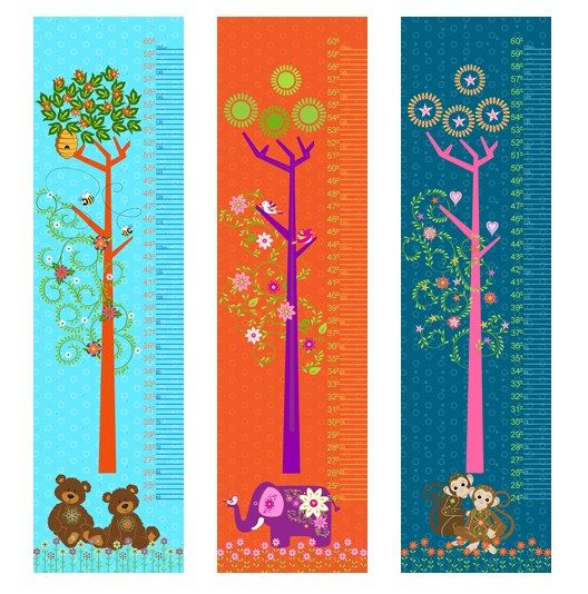 Fabric Growth Chart Tutorial {and 2 giveaways!}