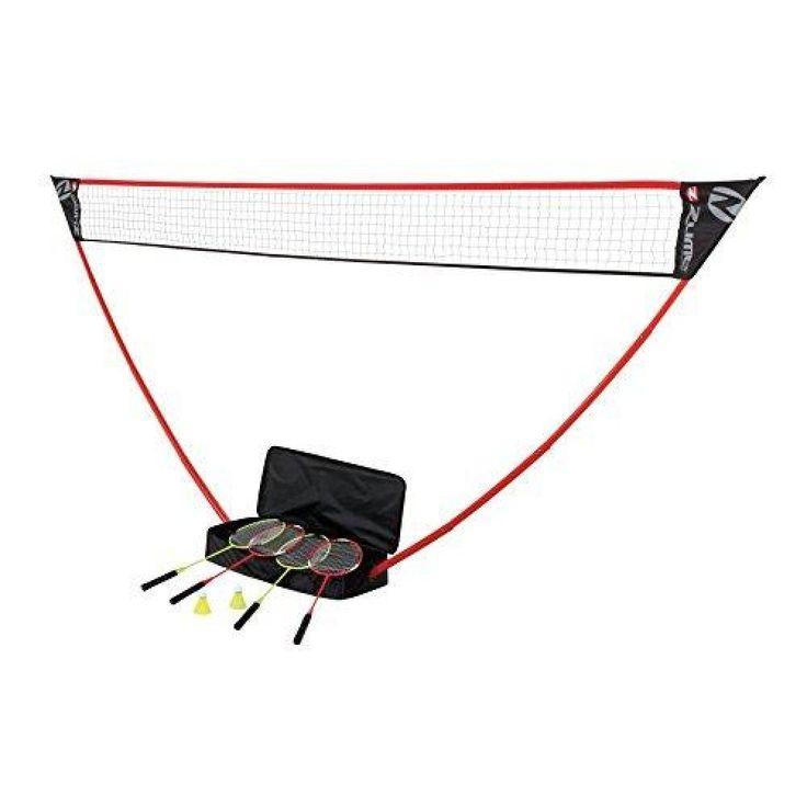 Zume Games Portable Badminton Set With Freestanding Base Badminton Set Badminton Shuttlecocks