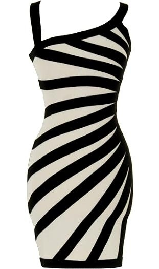 Sexy black and white short dress ♥