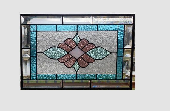 This Beveled Stained Glass Panel Window Is A Victorian Style Design Done In Pastel Victorian Stained Glass Panels Stain Glass Window Art Hanging Stained Glass