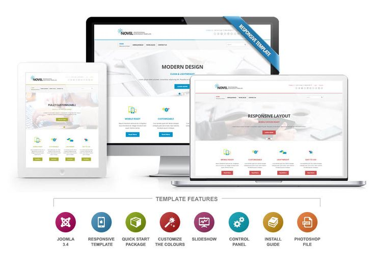The Novel #Joomla #template is a #responsive #design that is great for build a professional #business website to showcase the servcies you have to offer.