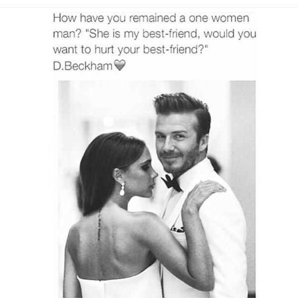 """How have you remained a one women man? """"She is my best friend, would you want to hurt your best friend?"""