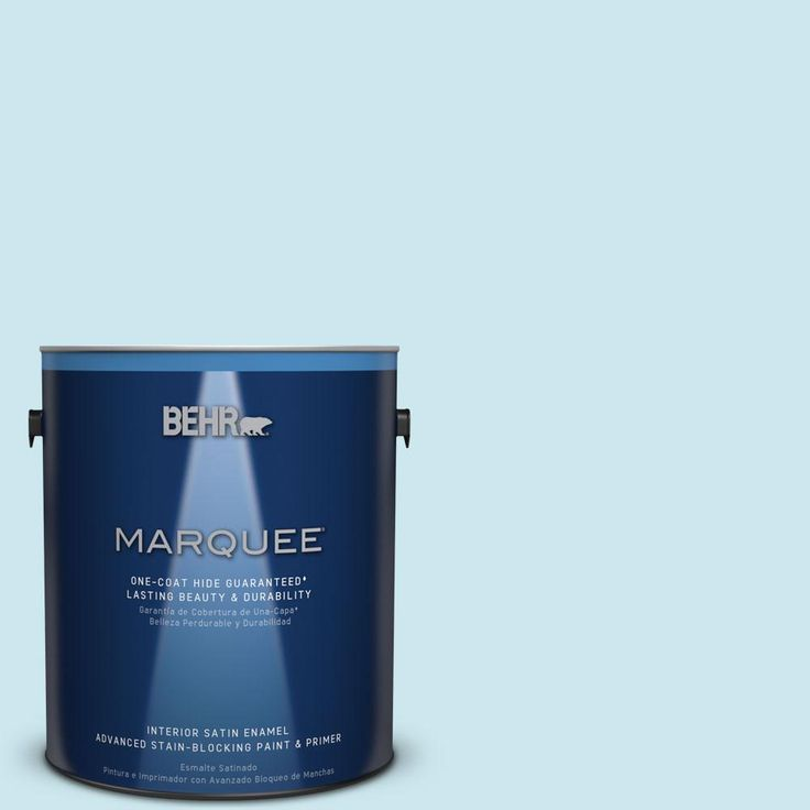 Captivating BEHR MARQUEE 1 Gal. #MQ3 52 Ethereal Mood One Coat Hide Satin Enamel  Interior Paint