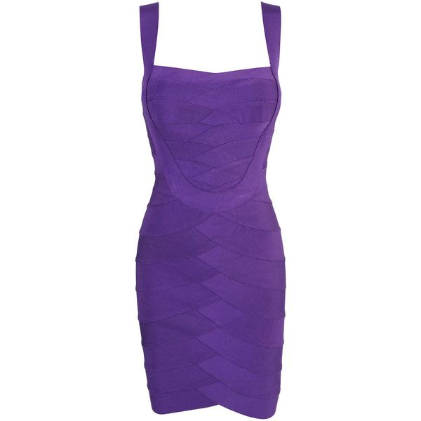 'MICHELLE' PURPLE BUST BOOSTING BANDAGE DRESS ($173) found on Polyvore