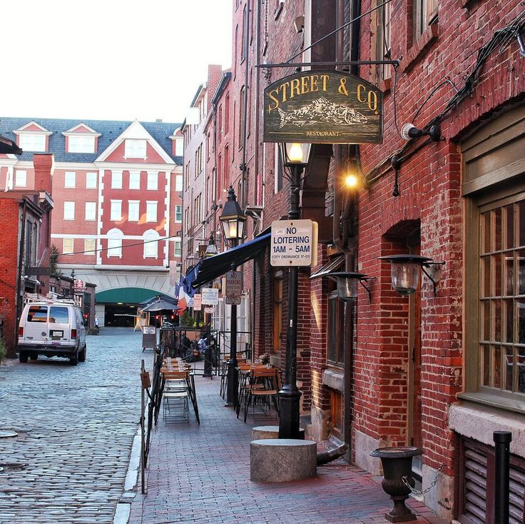 We loved the cobbled back streets in Portland Maine - what's your favourite old city? - @theglobalcouple on Instagram