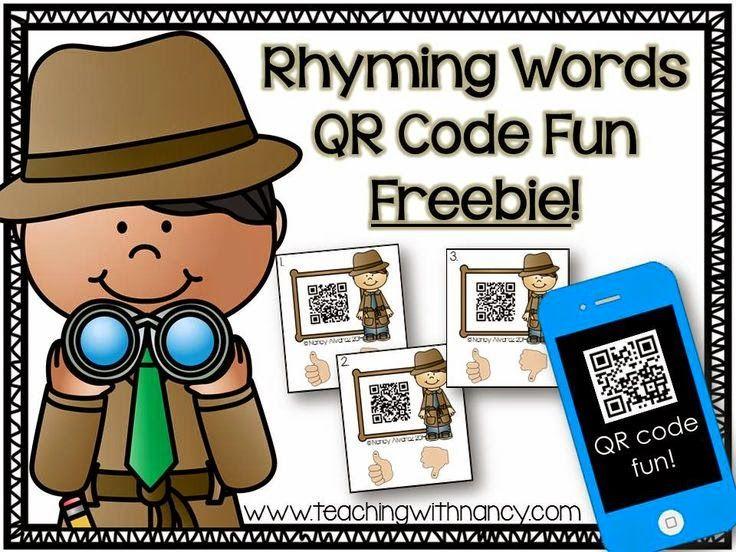 FREE! Rhyming Words QR Code Fun Freebie!