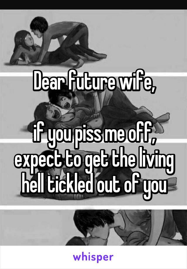 My future wife essay