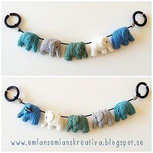 Instagram photo by emlansemlanskreativa - 5 elefanter balanserade på en liten liten spindeltråd #virka #virkat #crochet #barnvagn #elefant #barnvagnsmobil #barnrumsinspo #emlansemlanskreativa