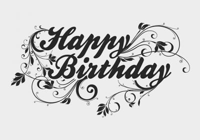 Plain Happy Birthday with floral background design. Download it now! Feel free to use it in commercial and non-commercial projects, personal websites and printed work, as long as it's a part of a larger design.