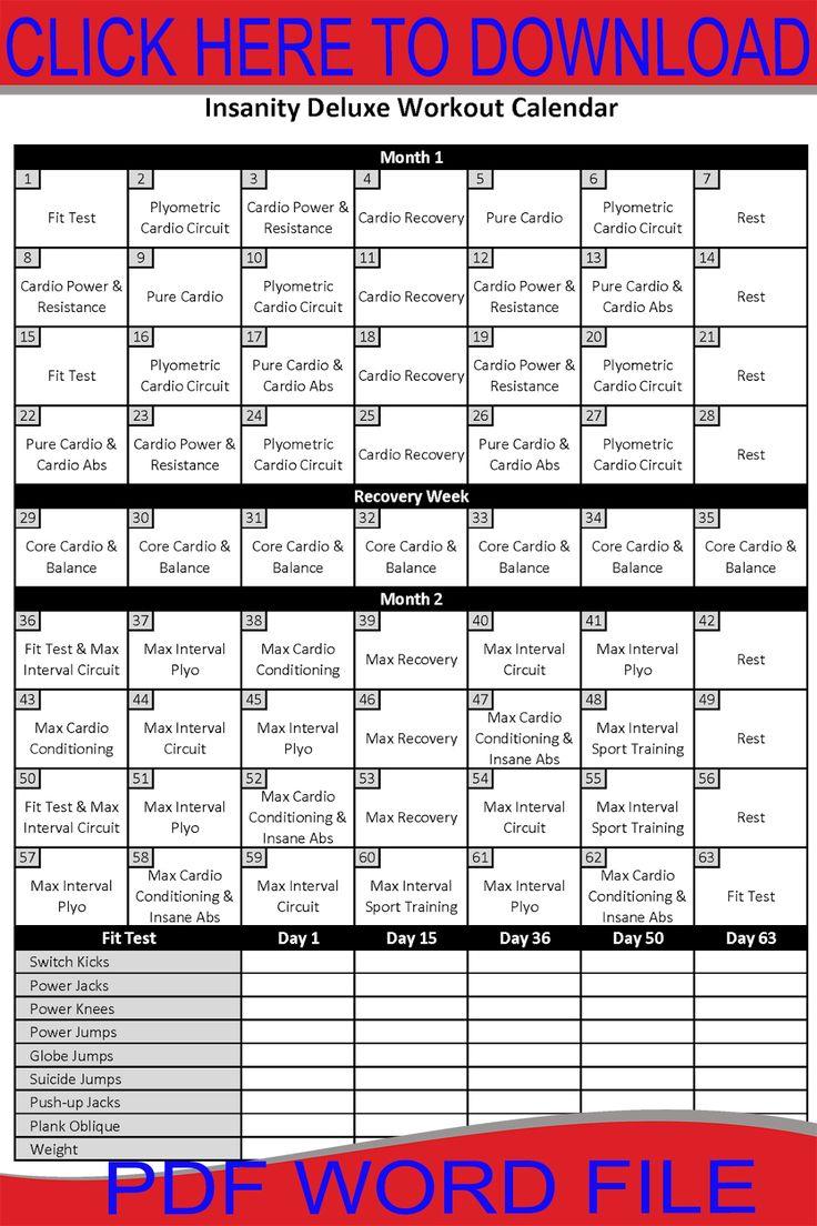 Workout Calendar Ideas : Best insanity workout calendar ideas on pinterest