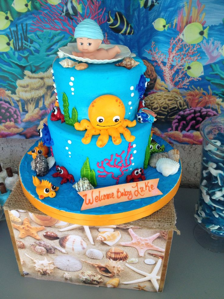 sea baby showers baby shower boy cakes shower ideas under the sea