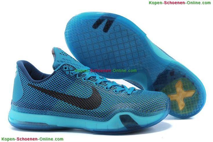 Kopen Nike Zoom Kobe 10 Low '5AM Flight' Schoenen Blauw Lagune/Zwart/Damp Groen