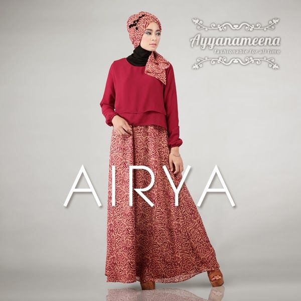 Ayyanameena Airya Maroon   #Ayyanameena #Airya #dress #moslem #hijab #jilbab #fashion #women