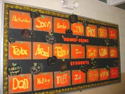 Gourd-geous Students! - Fall Bulletin Board Idea