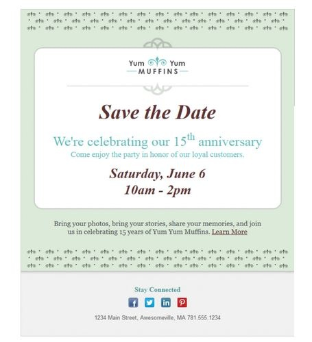 1000 images about email templates from constant contact for Conference save the date template