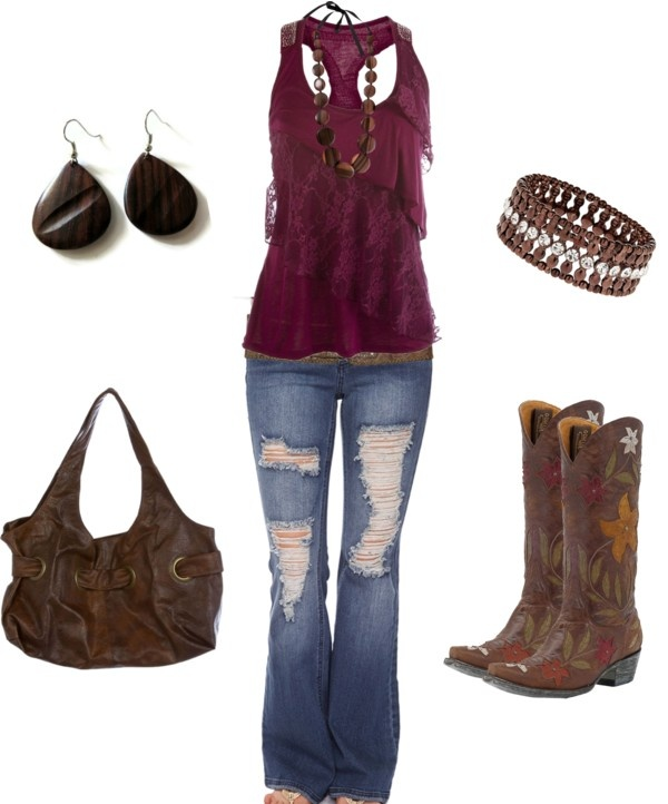 """""""Brown and Maroon"""" by sarah-jones-3 on Polyvore"""