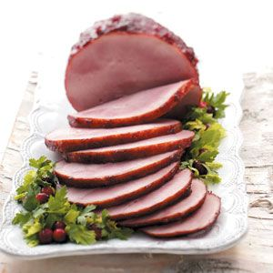Cranberry Glazed Ham - Think cranberry only goes with turkey? Try it with ham!
