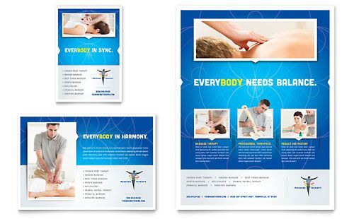 Reflexology \ Massage Flyer - Word Template \ Publisher Template - flyer format word
