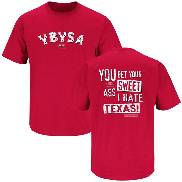YBYSA Hate Texas (Red): Rivals Fanwear