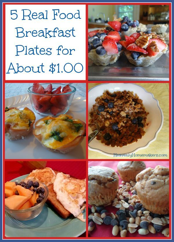 Here's what we're going to do. We're going to put together five different real food breakfast plans that are super simple and cost about $1.00 per plate. We're going to save money, save time, and eat well…all at the same time.