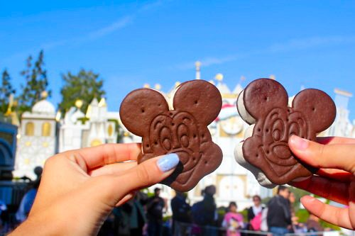 Mickey Mouse Ice Cream Sandwiches at Disneyland.