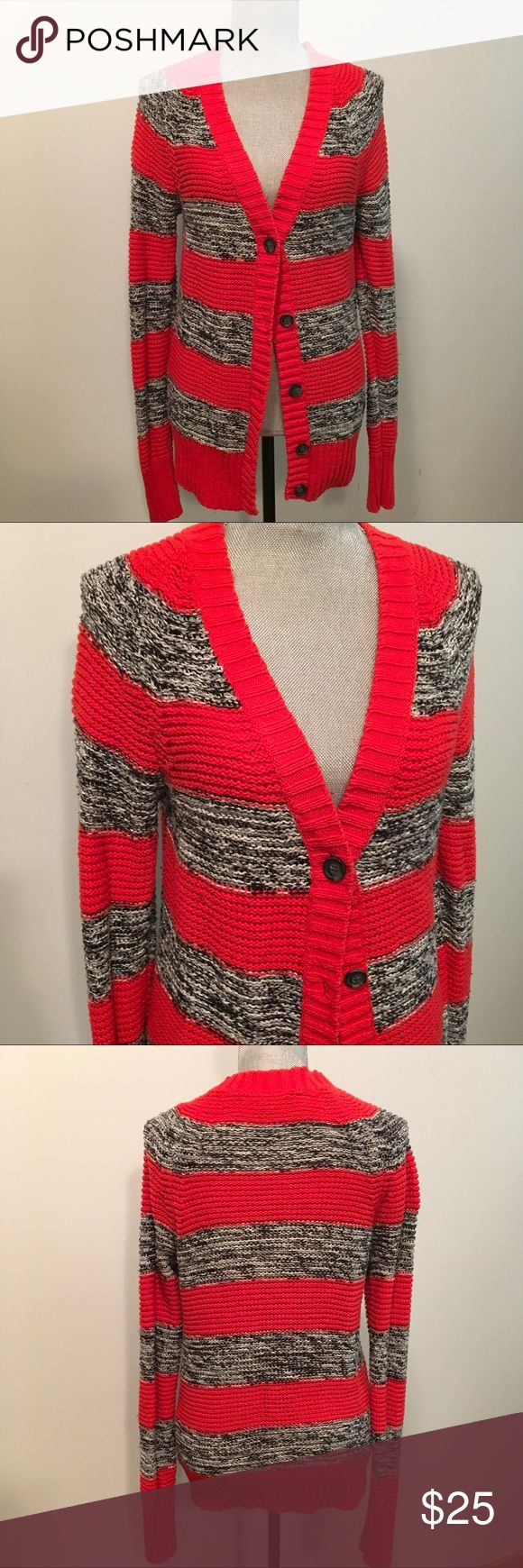 Hive and Honey Knit Stripped Cardigan Knit striped sweater in good used condition. I also have the same sweater for sale in my closet in blue. Piperlime Sweaters Cardigans