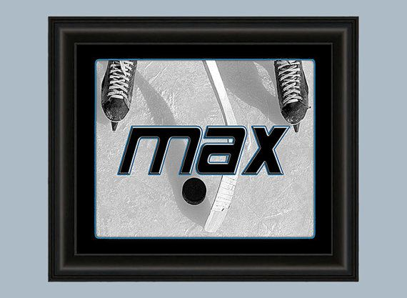 Boys hockey artwork 8x10 art prints boys by for 8x10 bedroom ideas