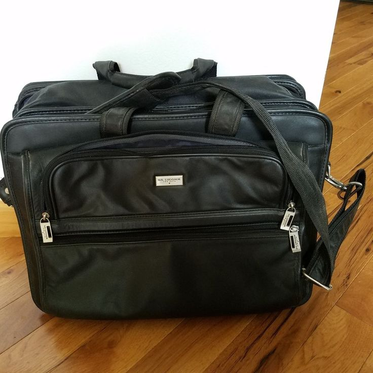 b928a50f1b82 U. S. Luggage New York black leather briefcase #fashion #clothing ...