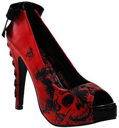 Chaussures IRON FIST - Nightmare Platform - http://rockagogo.com