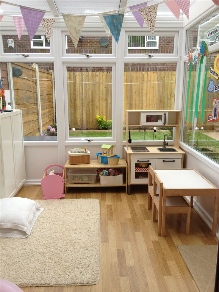 conservatory converted into a playroom playroom