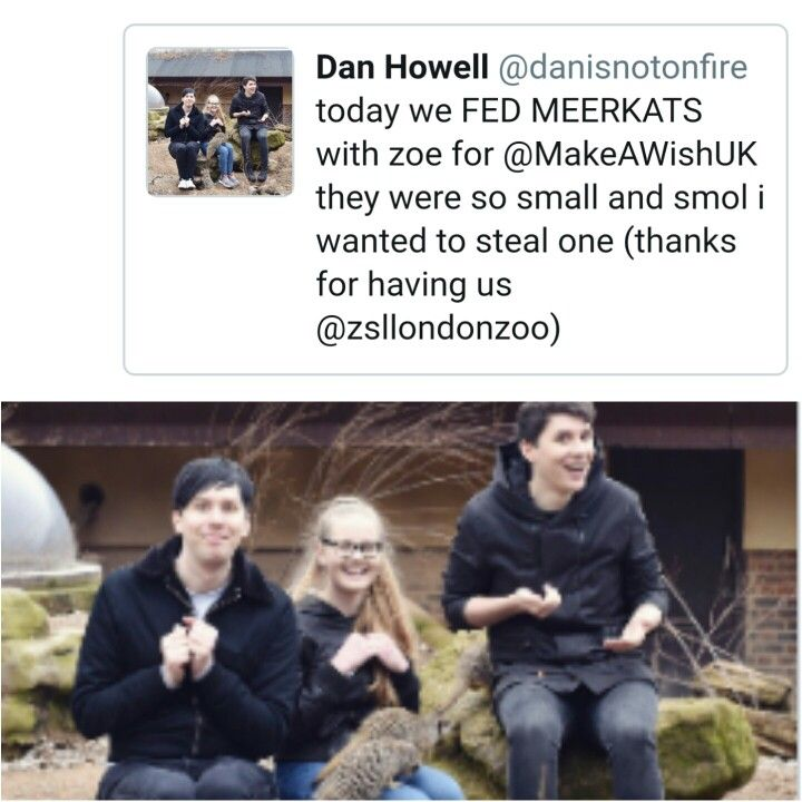 Awww Dan and Phil with Make A Wish
